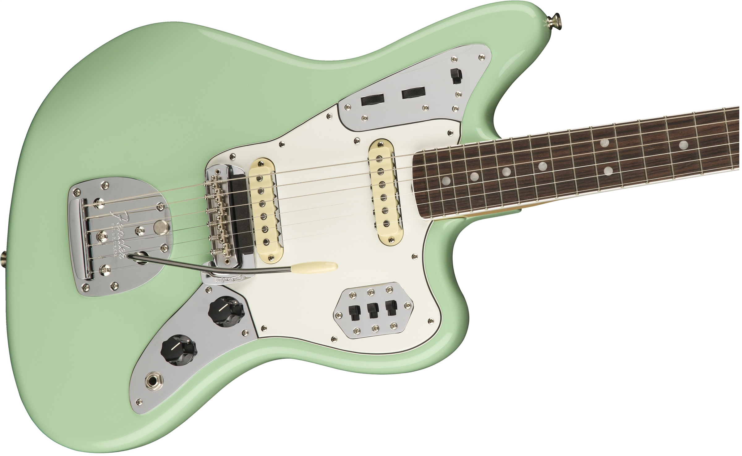 In 1962 Fender introduced the Jaguar as a top of the line electric guitar  with a host of new features and a shorter scale neck. However, like its  offset ...