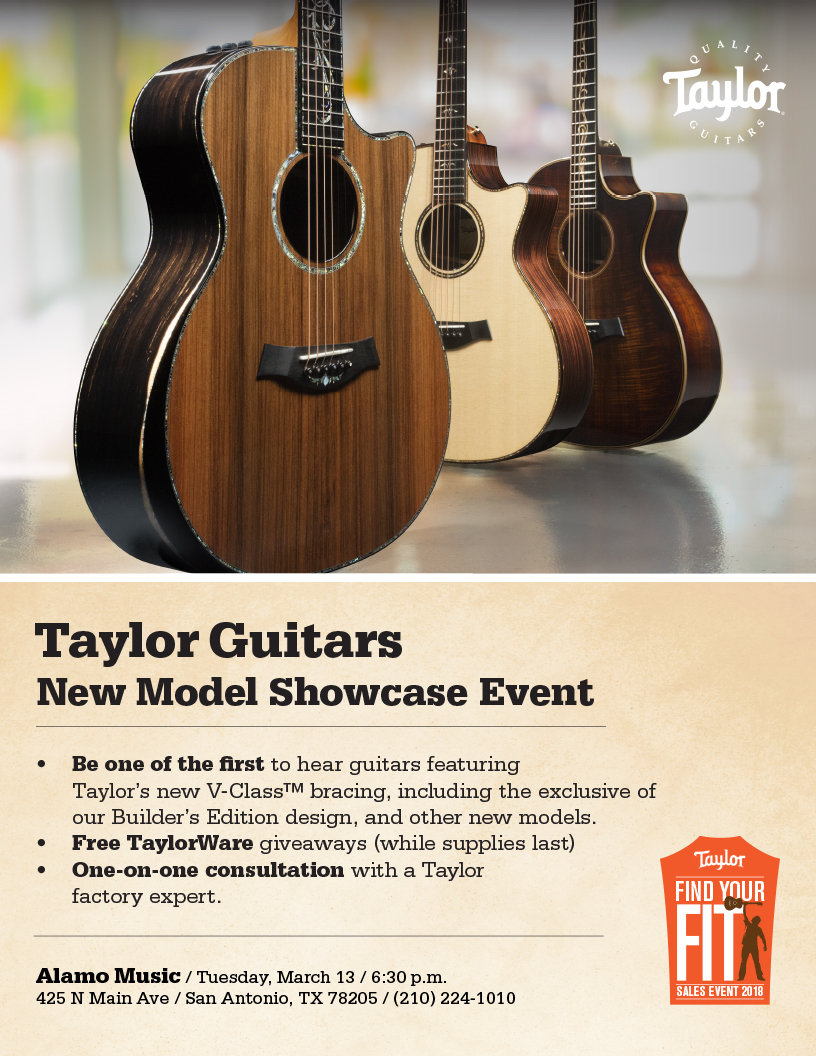 Taylor Guitars-2018 New Model Showcase at Alamo Music Center